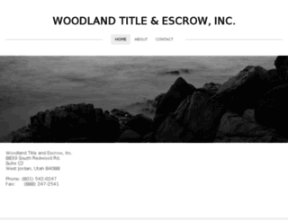 woodlandtitleut.com screenshot