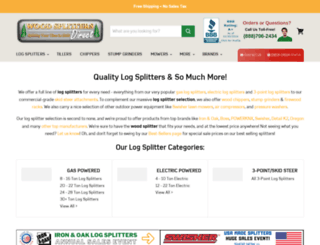 woodsplitterdirect.com screenshot