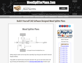 woodsplitterplans.com screenshot