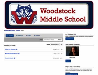 woodstockmiddle.libguides.com screenshot