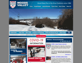 woodsvalleyskiarea.com screenshot