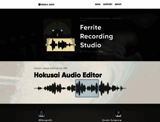 wooji-juice.com screenshot