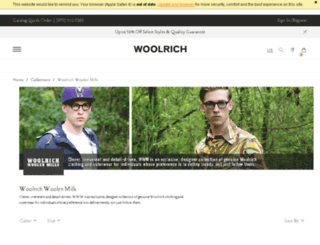 woolrichwoolenmillsproduction.com screenshot