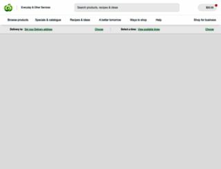 woolworths.com.au screenshot