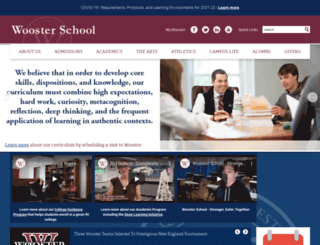 woosterschool.org screenshot