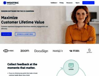 wootric.com screenshot