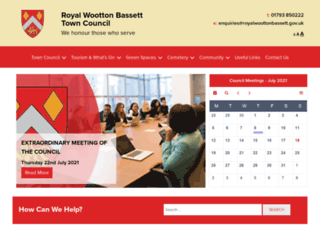 woottonbassett.gov.uk screenshot