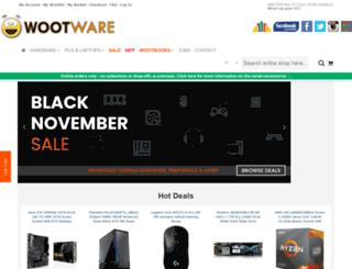 wootware.co.za screenshot