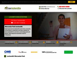 worcester-park-locksmith.co.uk screenshot