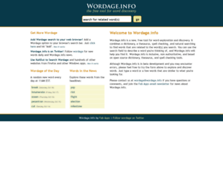 wordage.info screenshot