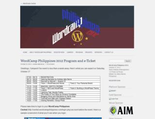 wordcampphilippines.com screenshot
