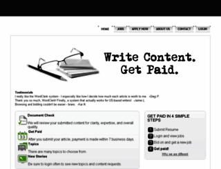 wordclerk.com screenshot