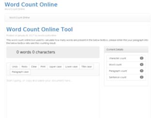 wordcountonline.com screenshot