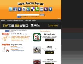 wordgamescentral.com screenshot