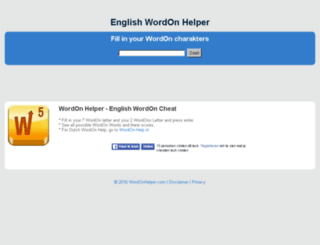 wordonhelper.com screenshot
