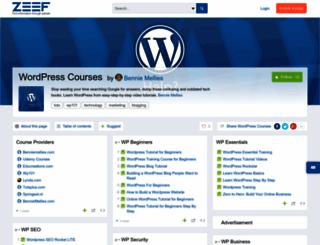 wordpress-courses.zeef.com screenshot