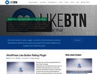 wordpress.likebtn.com screenshot