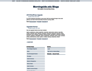 wordpress.morningside.edu screenshot