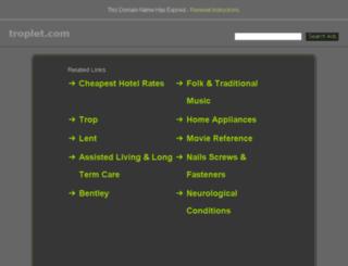 wordpress.troplet.com screenshot