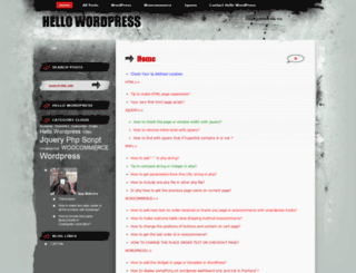 wordpressajay.wordpress.com screenshot