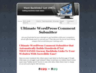 wordpresscommentspammer.com screenshot