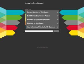 wordpressfavorites.com screenshot