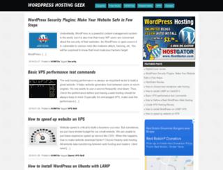 wordpresshostinggeek.com screenshot