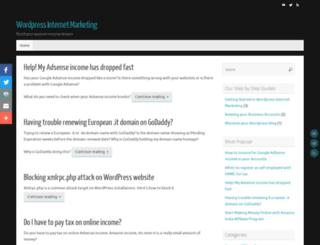 wordpressinternetmarketing.net screenshot