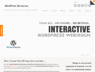 wordpressservice.net screenshot