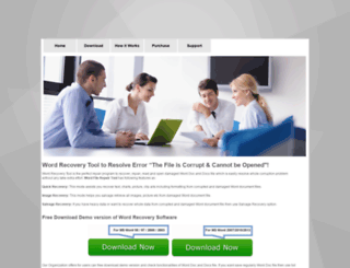 wordrecoverytool.iwopop.com screenshot
