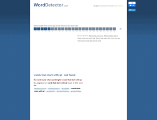 words-that-start-with-qi.worddetector.com screenshot