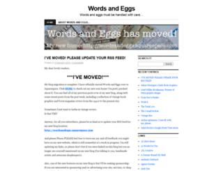 wordsandeggs.wordpress.com screenshot
