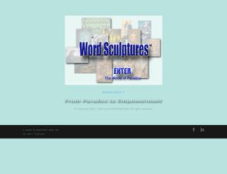 wordsculptures.com screenshot
