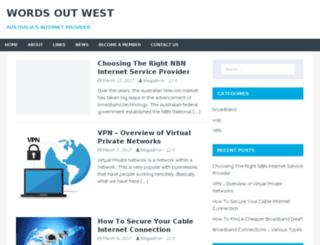 wordsoutwest.com.au screenshot