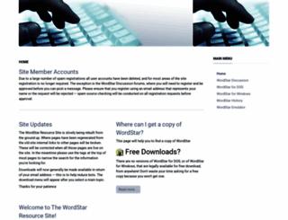 wordstar.org screenshot