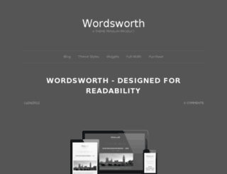 wordsworth.themepenguin.com screenshot
