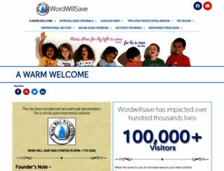 wordwillsave.com screenshot