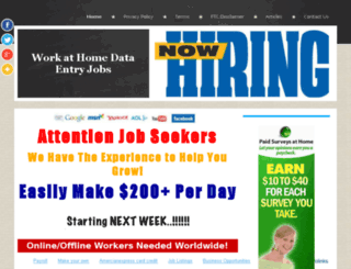 workathomedataentryjob.com screenshot