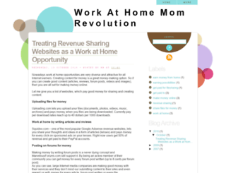 workathomemomrevolution.blogspot.com screenshot