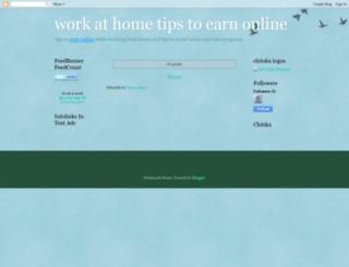 workathometipstoearn.blogspot.com screenshot