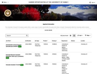 workatuh.hawaii.edu screenshot