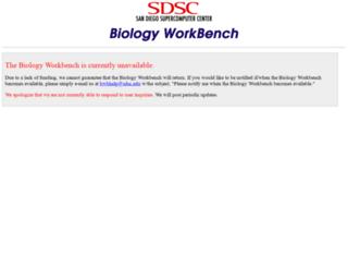 workbench.sdsc.edu screenshot