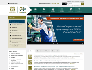 workcover.wa.gov.au screenshot
