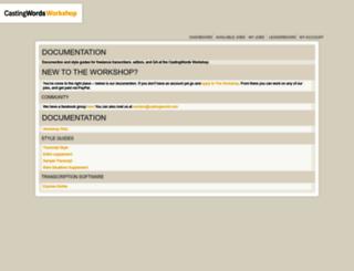 workers.castingwords.com screenshot
