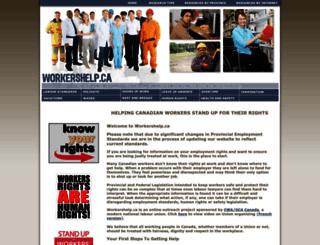 workershelp.ca screenshot