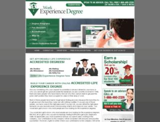 workexperiencedegree.org screenshot