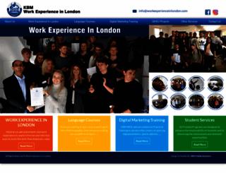 workexperienceinlondon.com screenshot