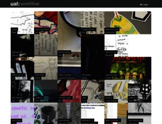 workflow.arts.ac.uk screenshot