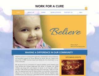 workforacure.org screenshot