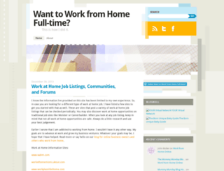 workfromhomefulltime.wordpress.com screenshot